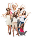 Group of happy cheerful women Royalty Free Stock Photos