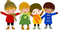 Group of happy children Royalty Free Stock Images