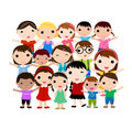 Group of happy children Stock Photos