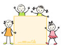 Group of happy children vector illustration Stock Images