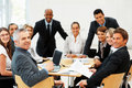 Group of happy executives during a meeting Royalty Free Stock Photography