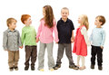 Group of happy kids holding hands Royalty Free Stock Photo