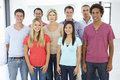 Group Of Happy And Positive Business People In Casual Dress Royalty Free Stock Photo