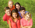 Group of happy students in a Park Royalty Free Stock Photo