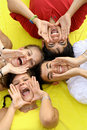 group of happy teens Royalty Free Stock Photo