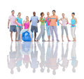 Group of healthy people in the fitness Stock Photography