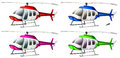 A group of helicopters illustration on white background Stock Photo