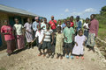 A group of HIV/AIDS infected children sing song about AIDS at the Pepo La Tumaini Jangwani, HIV/AIDS Community Rehabilitation Prog Royalty Free Stock Photo