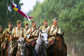 Group of horse riders Stock Photo
