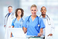 Group of hospital doctors. Royalty Free Stock Photo