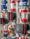 Hot water circulating pumps Royalty Free Stock Photo
