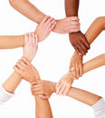 Group of human hands showing unity Stock Photography