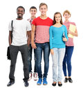 Group of international students Royalty Free Stock Photos
