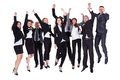 Group Of Jubilant Business Peo...