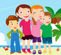 Group of kids on beach Royalty Free Stock Photography