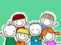 Group of kids card Royalty Free Stock Photo