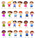Group of kids having fun cartoon Royalty Free Stock Photography