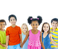 Group of Kids Holding Hands Royalty Free Stock Photo