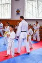 Kids training Karate Royalty Free Stock Photo