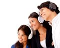 Group listening to music Royalty Free Stock Photo
