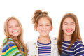 Group little children girls kids happy smiles Royalty Free Stock Photo