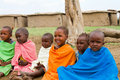 Group of lovely kenyan children Royalty Free Stock Image