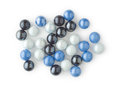 Group of Marbles on White Royalty Free Stock Image