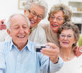 Group of mature people taking  self portrait Royalty Free Stock Images