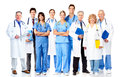 Group of medical doctors isolated over white background Royalty Free Stock Photos