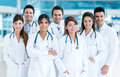 Group of medical staff smiling at the hospital Stock Images