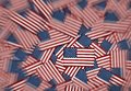 Miniature American flags background pattern Royalty Free Stock Photo