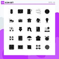 Group of 25 Modern Solid Glyphs Set for seo, messenger, charge, energy, weather
