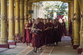 Group monks kyat khat wine monastery bago near yangon myanmar burma Stock Images