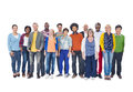 Group of multi ethnic people isolated on white Stock Photography