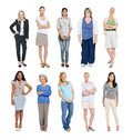 Group of Multiethnic Diverse Independent Women Royalty Free Stock Photo