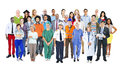 Group of multiethnic diverse mixed occupation people Royalty Free Stock Photos