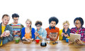 Group of Multiethnic People Social Networking Royalty Free Stock Photo