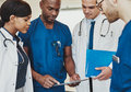Group of multiracial doctors Royalty Free Stock Photo