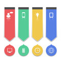 Group paper labels with infographic icons illustration Stock Photo