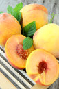 Group of peach fresh fruit of summer healthy diet Royalty Free Stock Image