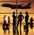Group of people in the airport Stock Photography