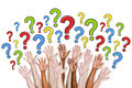 Group of People Asking Questions Royalty Free Stock Photo