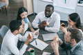 Group of people business team meal break concept Royalty Free Stock Photo