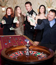 Group of people in casino Stock Photography