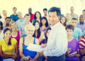 Group People Casual Lecture Teacher Speaker Notes Concept Royalty Free Stock Photo