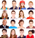 Group of people closeups a large Stock Images