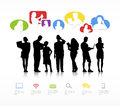 Group of people communicating with speech bubble concept Royalty Free Stock Photo