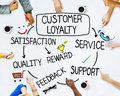 Group of People and Customer Loyalty Concepts Royalty Free Stock Photo
