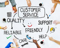 Group of People and Customer Service Concepts Royalty Free Stock Photo