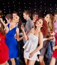 Group people dancing at party. Stock Image